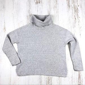 Athleta Funnel Neck Marled Wool Sweater S